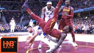 Jeff Green Hard Fall / Cavs vs Sixers