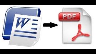 INFSPM BATNA : Comment convertir un document MS Word en PDF ?
