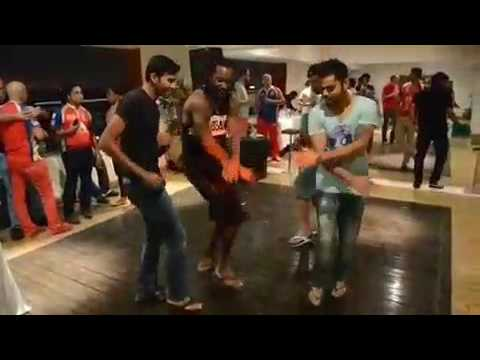 Royal Challengers Banglore Team Dancing On Occasion