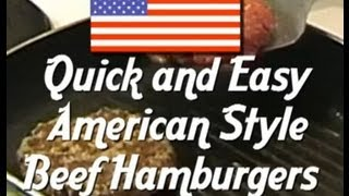 Burger Recipe - How to make fresh Hamburgers - American Style Hamburger recipe