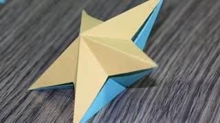 How to Make 3D Origami Paper Stars.