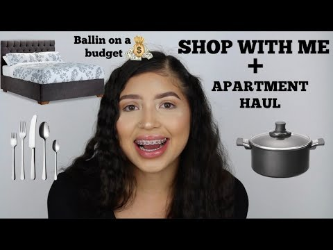 SHOP WITH ME + BALLIN ON A BUDGET (Apartment Haul) - YouTube