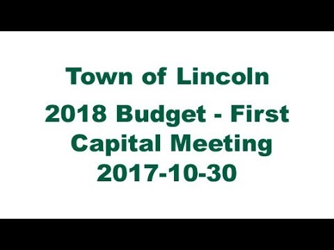 2018 Budget   First Capital Meeting - 2017-10-30