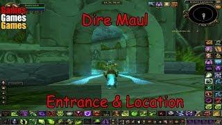 Dire Maul Entrance Location World Warcraft Original Dungeons