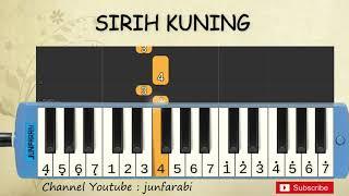 not pianika sirih kuning lagu daerah jakarta belajar pianika not angka sirih kuning