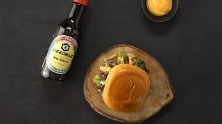 Asian Burger with Sriracha Mayo