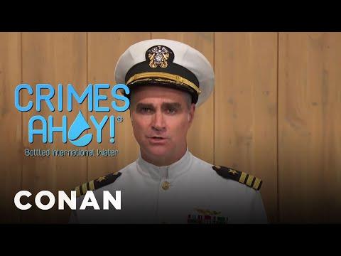 Introducing: Crimes Ahoy! Bottled International Water  - CONAN on TBS