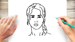 How to Draw Katniss Everdeen Step by Step for Kids