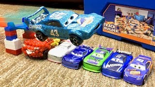 Disney Cars HOT WHEELS Track Builder STUNT Box - CUSTOM Disney Cars the KING does STUNTS - Toy Cars