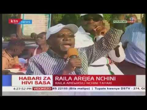 Former senator Boni Khalwale addresses jubilant crowd rallying behind opposition leader Raila