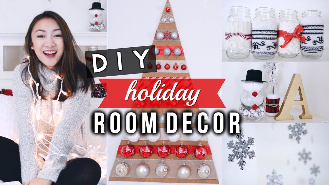 diy holiday room decorations easy cute youtube