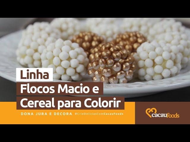 Modos de Aplicações - Linha Flocos Macio e Cereal para Colorir #CrieDelíciasComCacauFoods