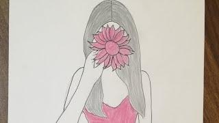 رسم بنات تعليم الرسم للبنات بسهولة رسم بنات كيوت بالرصاص رسم