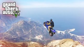 LONGEST STUNT JUMP EVER! - (GTA 5 Top 5 Stunts)