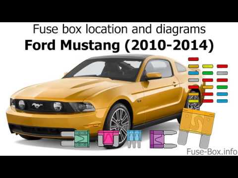 Fuse box location and diagrams: Ford Mustang (2010-2014) - YouTubeYouTube