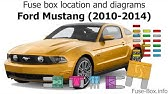 Fuse Box Location And Diagrams Ford Mustang 1998 2004 Youtube