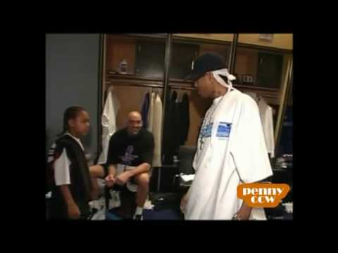 Lil Bow Wow at 76ers vs Pacers 00 01 NBA Playoff Game 2  Allen Iverson 45pts gameflv