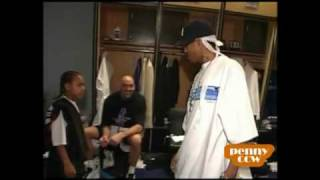 Lil Bow Wow at 76ers vs Pacers 00 01 NBA Playoff Game 2  Allen Iverson 45pts game.flv