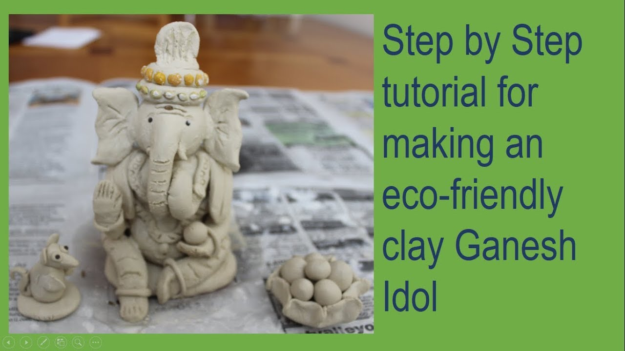 making of a eco-friendly clay ganesh idol - youtube