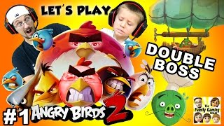 Chase & Duddy play ANGRY BIRDS 2!  DOUBLE BOSS BATTLE: Chef & Foreman Pig (FGTEEV AB2 Part 1)