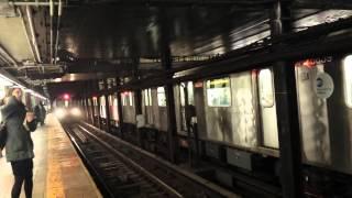 IRT Eastern Pkwy Line: Flatbush Av, Utica Av & Manhattan Bound R142/A (4) (5) Trains @ Borough Hall
