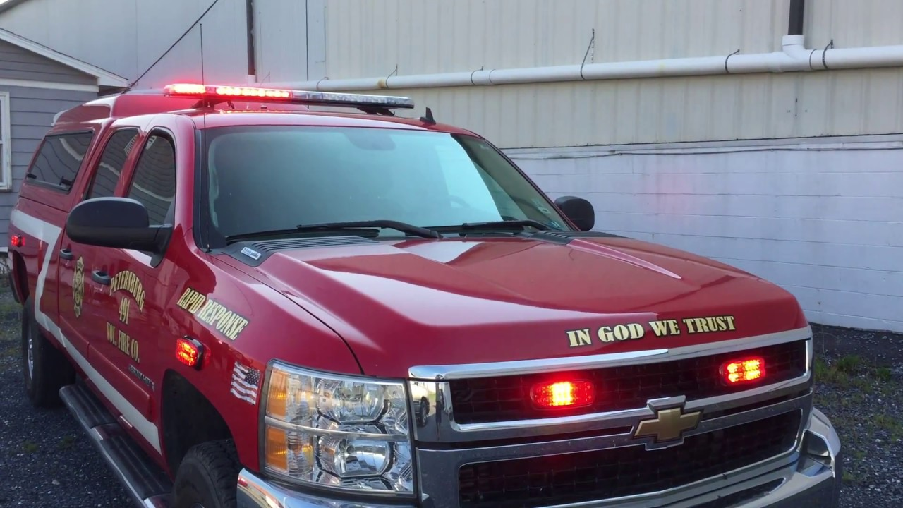 Fire Department Response Truck LED upgrade 7-2017