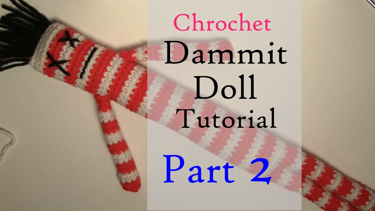 graphic relating to Dammit Doll Printable Pattern referred to as Crochet Dammit Doll Manual Pt. 2 DiannaAnna