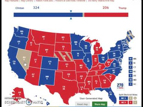 Follow Up Prediction Video For The Presidential Election - Us election electoral map