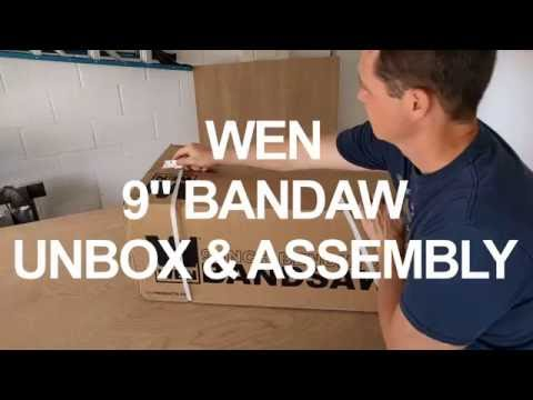 """Wen 9"""" Bandsaw Unbox and Assembly"""