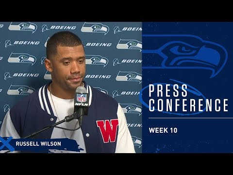 Seahawks Quarterback Russell Wilson Postgame Press Conference at Rams