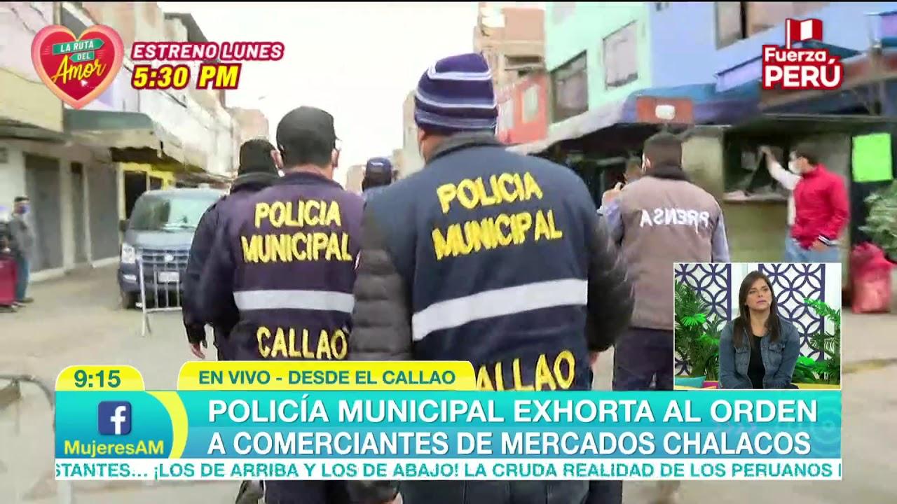 ¡Policía municipal exhorta al orden a comerciantes de mercados chalacos! (10 de Julio)