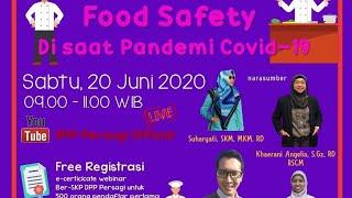 """Gambar cover Sapa PERSAGI Jilid 3 """"Food Safety di Saat Pandemi Covid 19 """""""