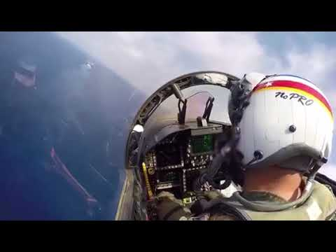 Fly by and landing on a US Navy Carrier