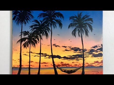 Tropical Painting STEP by STEP Acrylic Tutorial (ColorByFeli