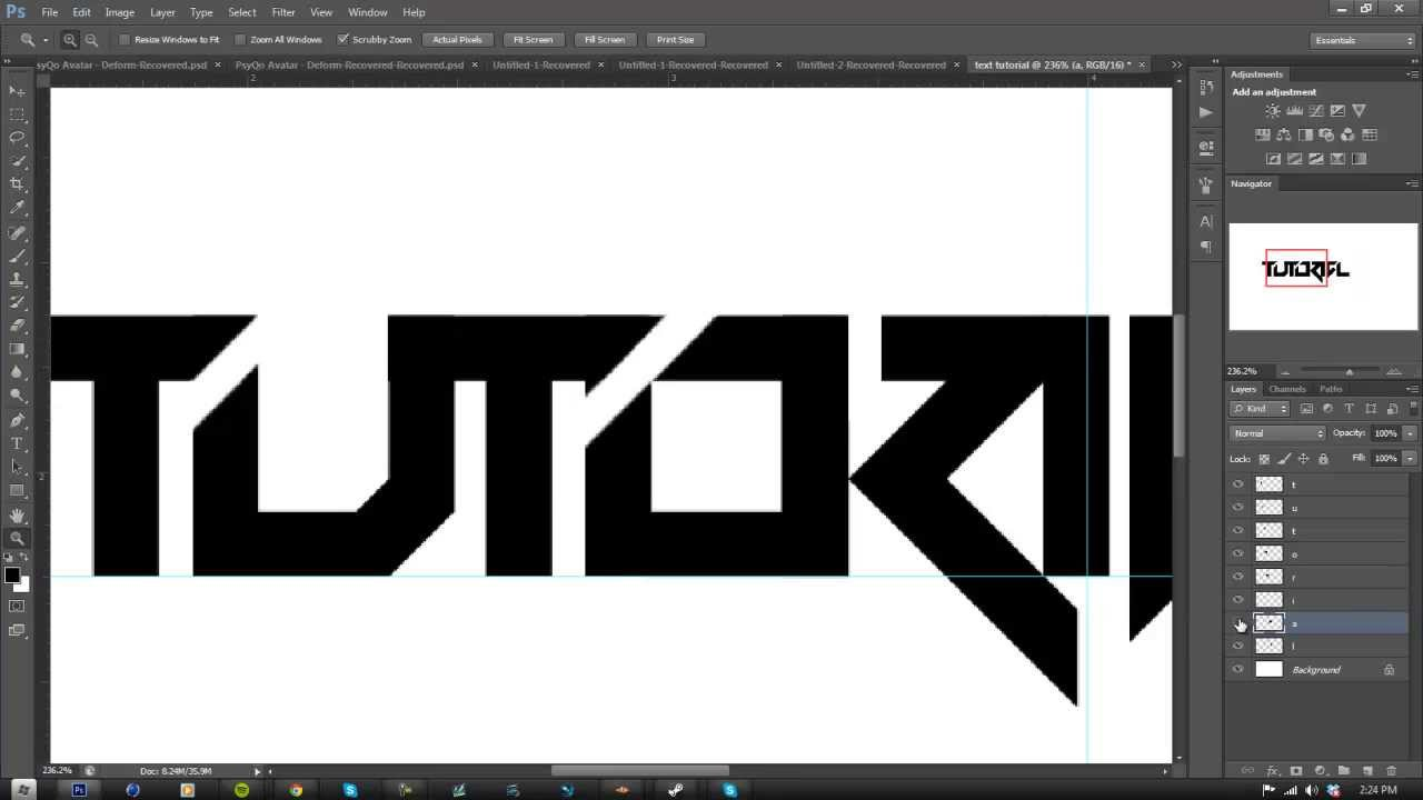 Tutorial: Making A Text Logo In Photoshop: Part 1 ...