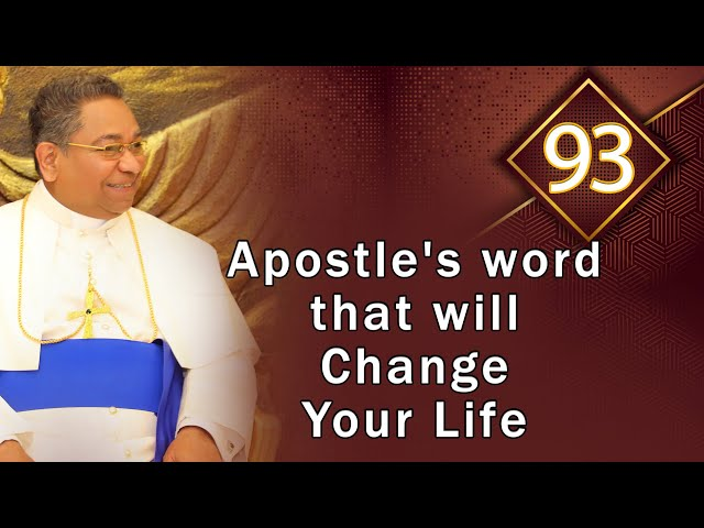 Apostle's word that will Change Your Life #93   His Holiness Apostle Rohan Lalith Aponso