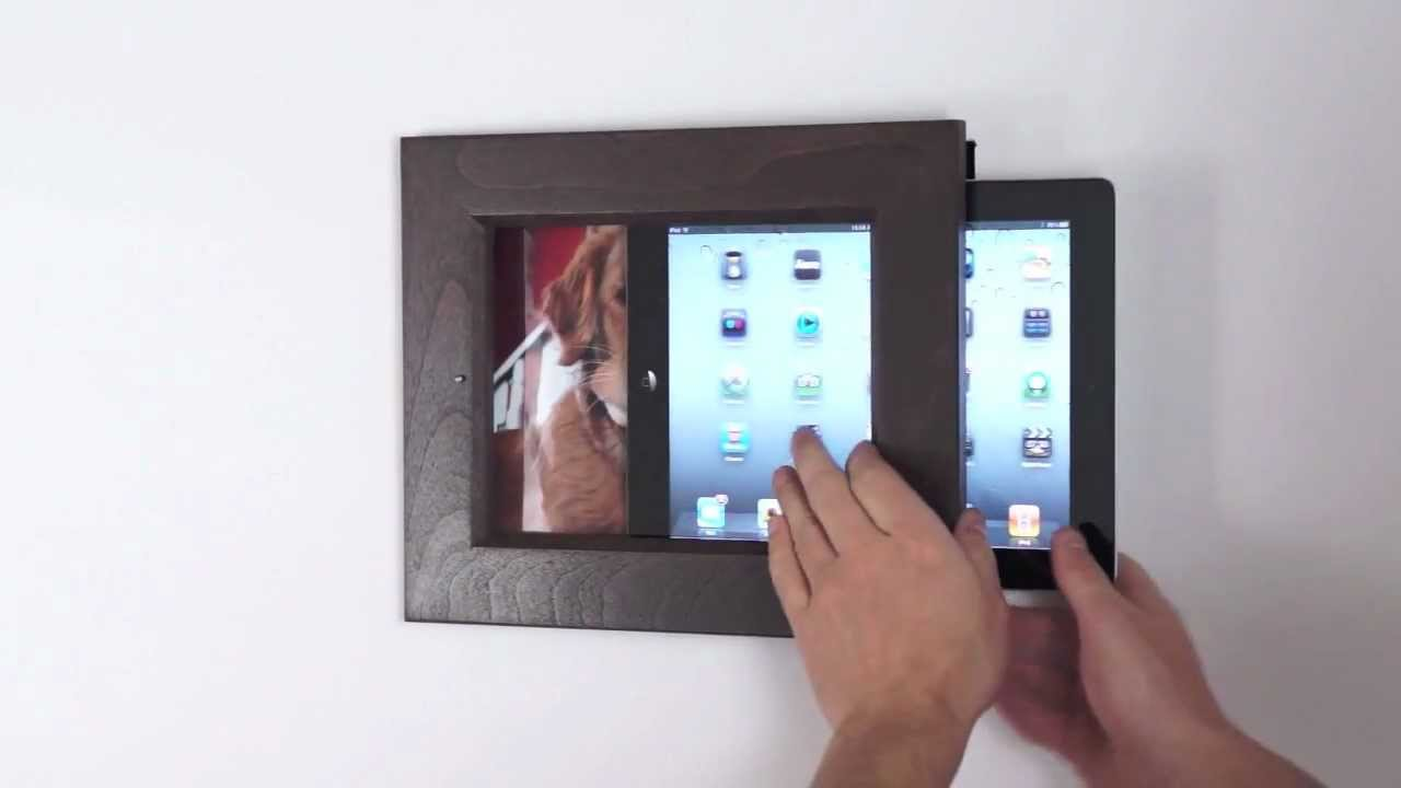 iPad Frame Dock. Desk and wall mount - YouTube