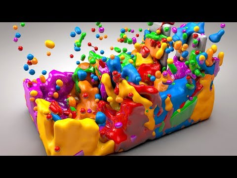 Cinema 4D Tutorial - Liquid & Water Simulation Animation thumbnail