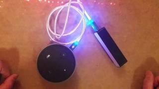 Amazon Alexa Echo Dot hack: using without AC power = portable!