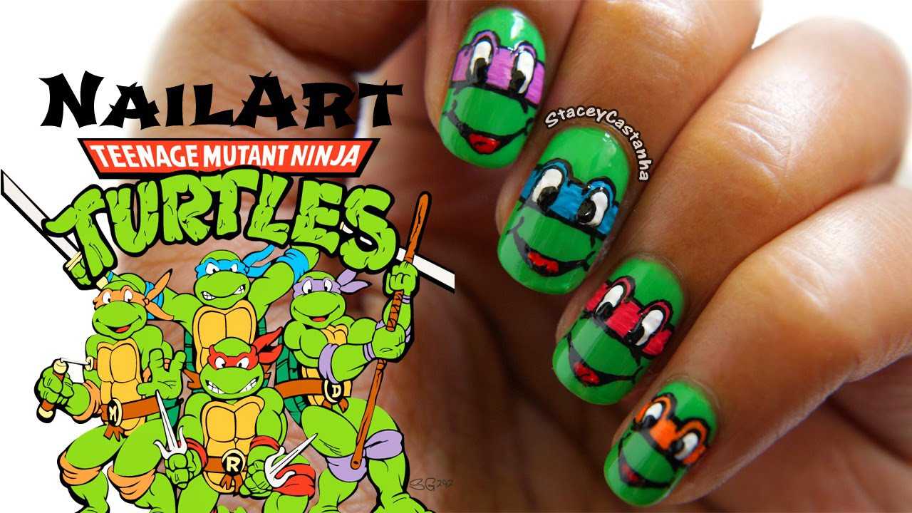 Teenage Mutant Ninja Turtles Nail Art Tutorial | Simple & Easy - YouTube