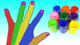Learn Colors with Finger Family Nursery Rhymes Hand Body Pain Surprise Toys for Kids