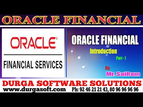 Oracle  Financial||online training|| Oracle  Financial by SaiRam