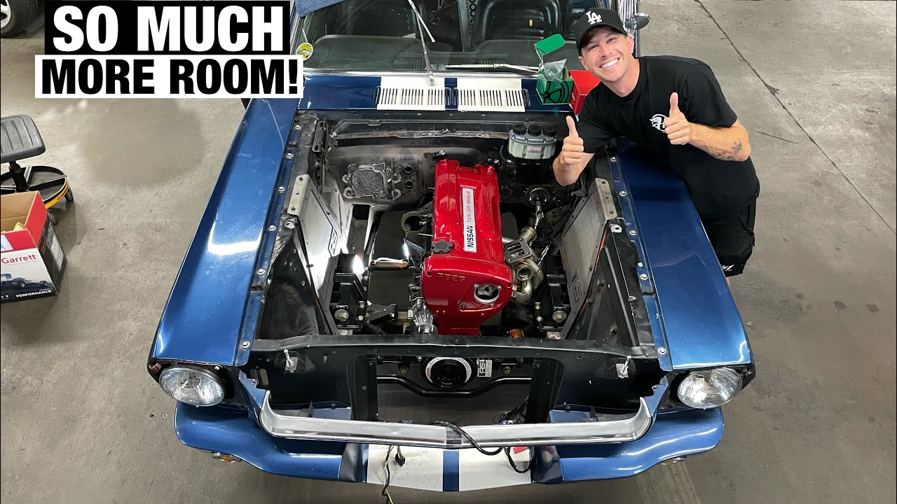 Swapping a RB26 into a 1965 Mustang! Tokyo Drift Mustang!