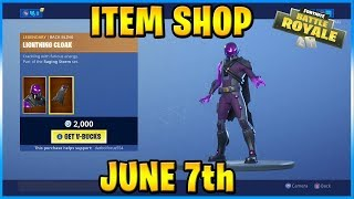 NEW Tempest and Bolt Skins! | FORTNITE ITEM SHOP TODAY! (June 7th, 2019)