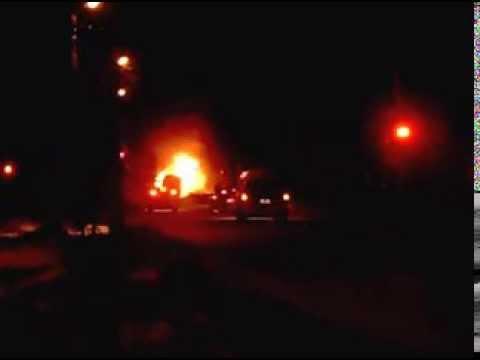 Пожар горит Авто в Иванове