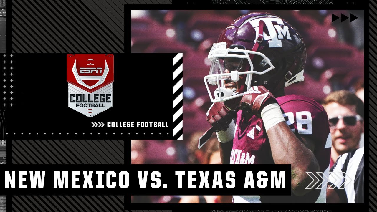 New Mexico Lobos at Texas A&M Aggies   Full Game Highlights
