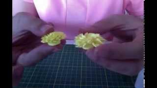 Neşeli Quilling Püskül Çiçek - Fringed Flower