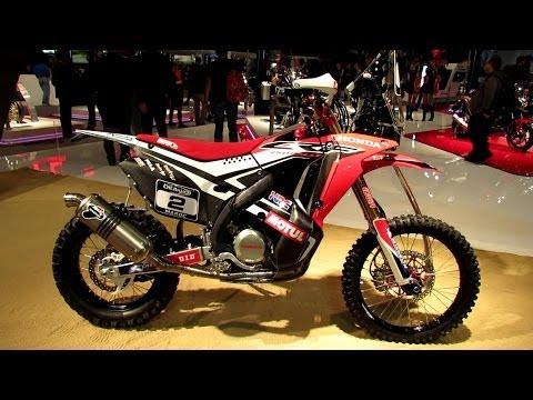 Honda CRF Rally Dakar Walkaround -  EICMA Milan Motorcycle Exibition