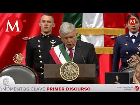 Mejores momentos del discurso de AMLO en San Lázaro