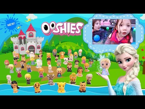 Disney Ooshies Series 2! Diving for the Sparkle Elsa! Toy Testers - Pencil Toppers - New Toys - 2018